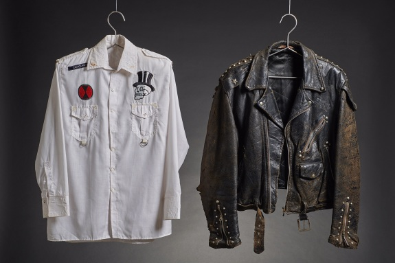 White shirt and leather jacket worn by The Clash © The Clash