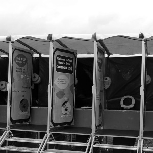 Compost loos at a festival