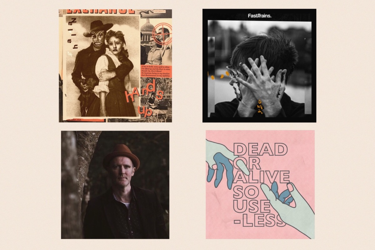 Cover sleeves for Hallan, Fast Trains, Jim McHugh and Gender Roles