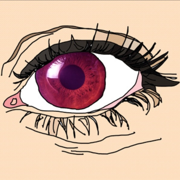 Artwork for Rose-Tinted by Szou - shows a close up of an eye