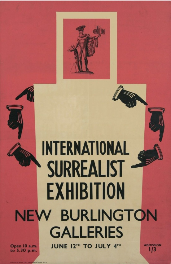 Max Ernst, poster for International Surrealist Exhibition, Burlington Galleries, London, 1936. Colour Lithograph, The Murray Family Collection, UK & USA.